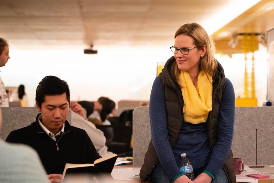 Lisa Stephenson mentoring 2018 MOE student